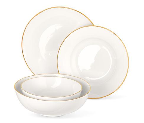 Spisestel i bone china-look