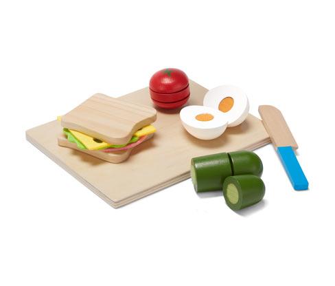 Drevená hra na krájanie – sendvič