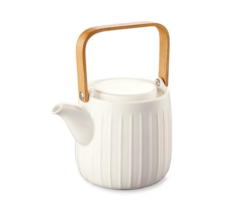 Kanvica na čaj s bambusovým držadlom