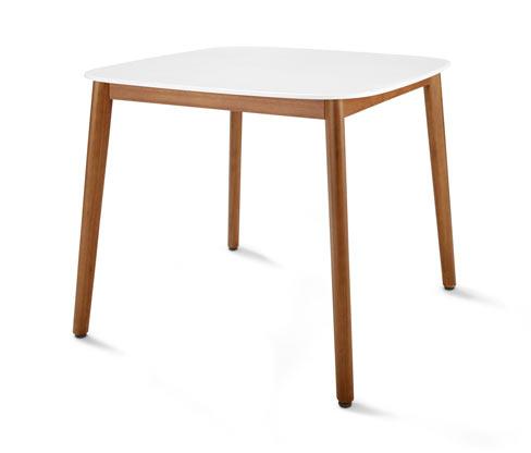 Stół ogrodowy z białym blatem Duranite®