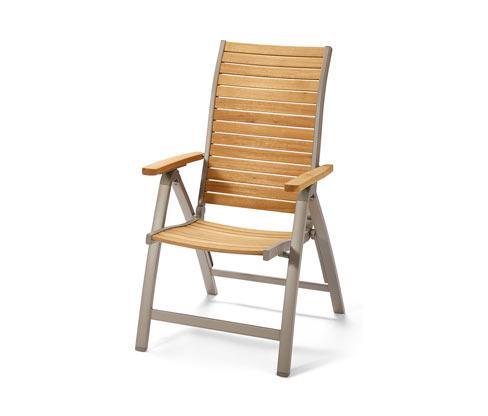 Záhradná stolička s vysokým operadlom