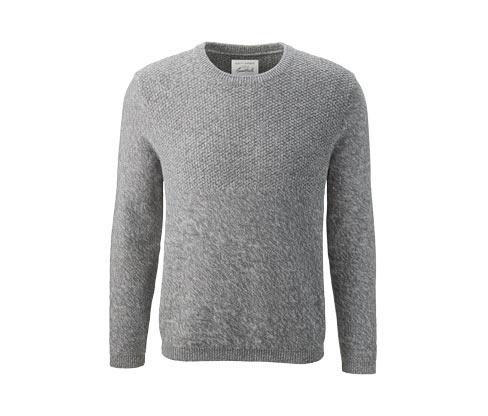 Pletený pulovr s kulatým výstřihem