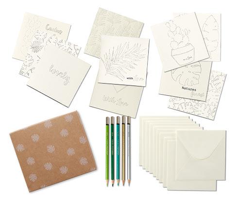 Ausmal-Karten-Set