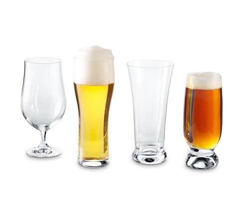Sklenice na pivo z křišťálového skla, 4 ks