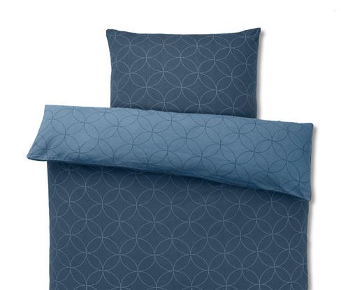 Kétoldalas téli jersey ágynemű, kék, egyszemélyes