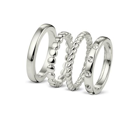 Súprava prsteňov, zdobené krištáľmi Swarovski®