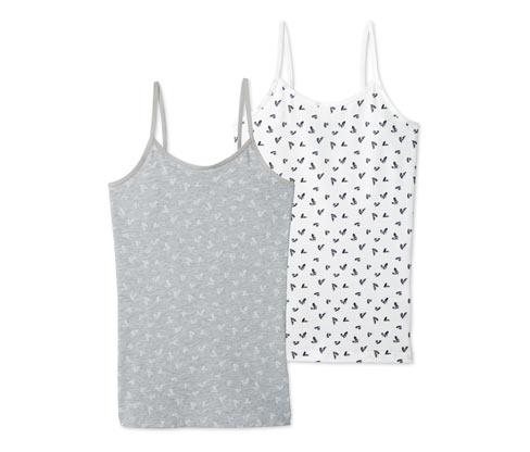 2 lány trikó szettben, szívecskés, szürke/fehér