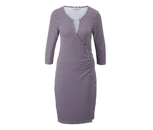Sukienka z dżerseju stylizowana na kopertową