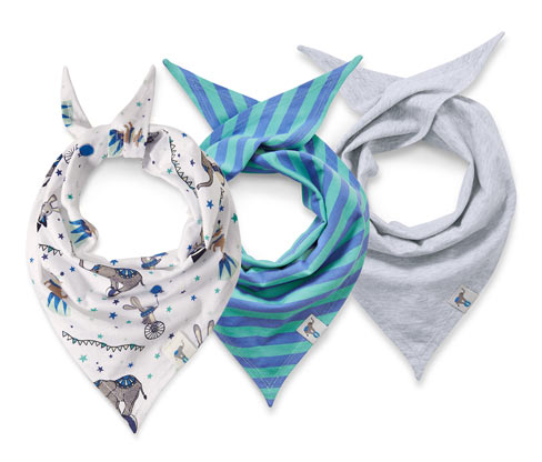 3 foulards triangulaires