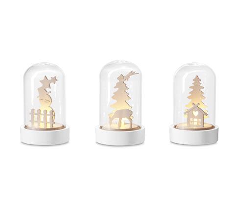 Dekoracyjne klosze LED, 3 sztuki