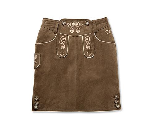 Kožená sukně ke kroji