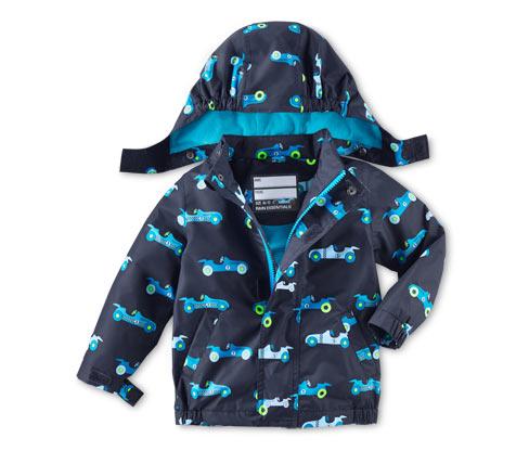 Çocuk Yağmurluk, Araba Desenli Mavi