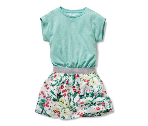 Lányka ruha, zöld