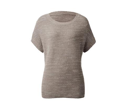 Pletený pulovr s netopýřími rukávy
