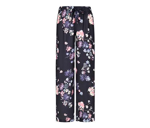 Çiçek Baskılı Pantolon