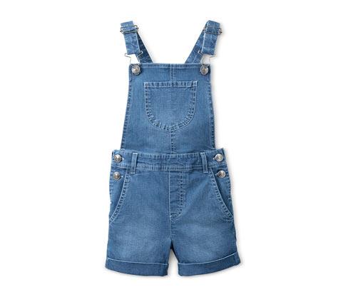 Džínsové šortky s náprsenkou