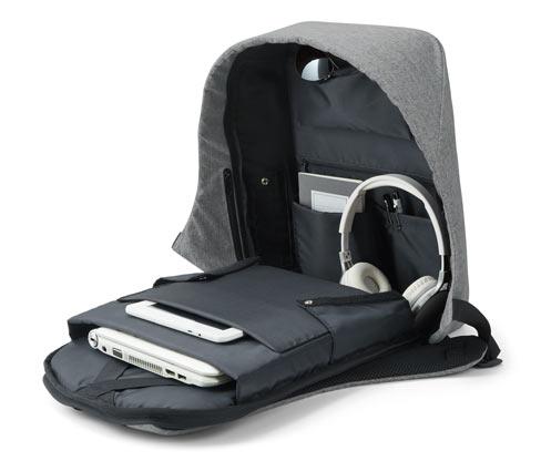 Plecak antykradzieżowy 15l z przegrodą na laptopa