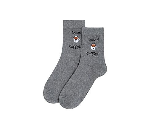 Gri Need Coffee Çorap
