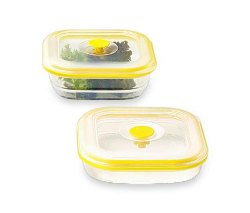 2 faltbare Silikon-Lunchboxen