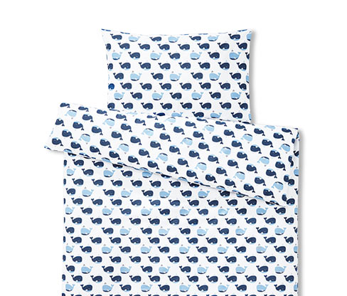 Dětské povlečení, bílo-modrý vzorek