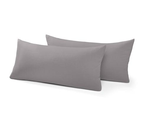 Žerzejové povlaky na polštář, cca 80 x 40 cm, 2 ks