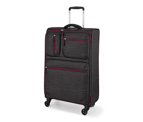 Lehoučký textilní kufr, střední