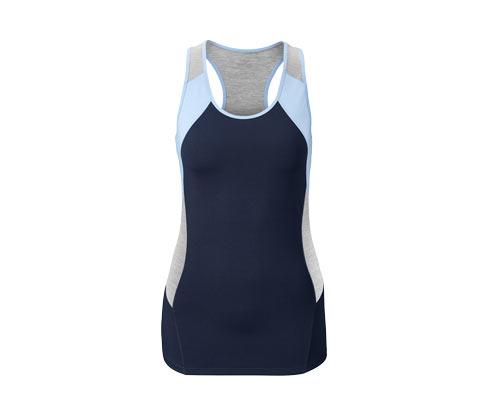 Női sport felső, kék-szürke