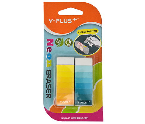 Y-PLUS Neon Büyük Silgi 2'li Bls