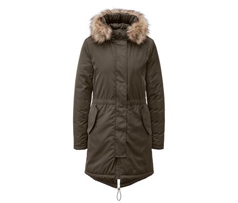 Női parka kabát, khaki