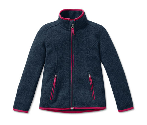 Veste en matière polaire tricotée