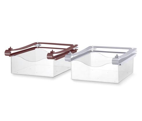 2 kihúzható kosár hűtőszekrénybe szettben