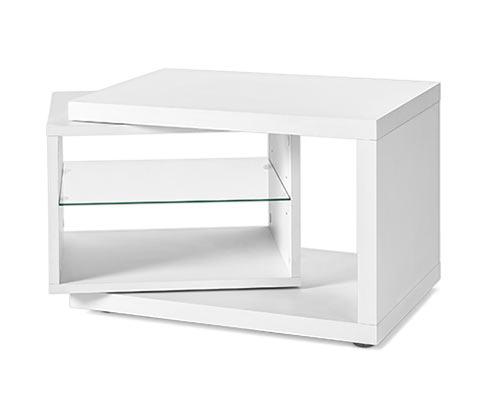 Odkládací stolek, bílý