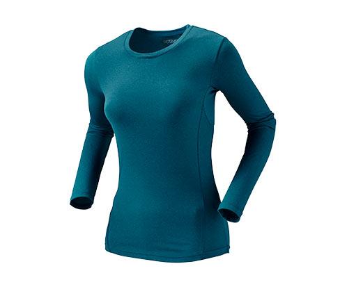 Sportovní triko s dlouhým rukávem, korálové