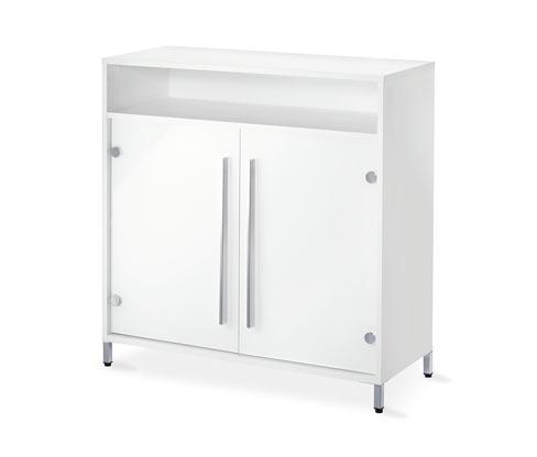 Odkládací skříňka, bílá