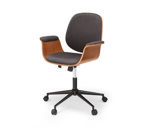Krzesło biurowe w stylu retro o regulowanej wysokości