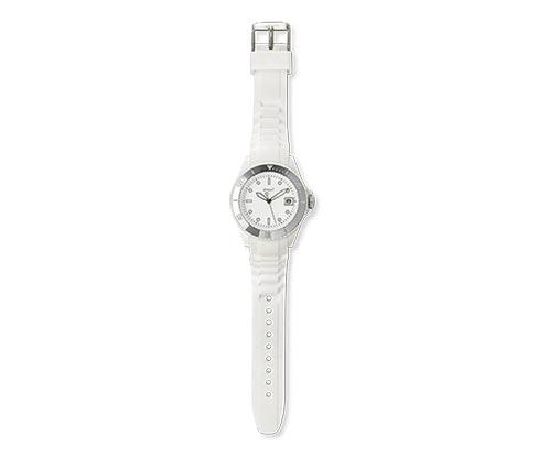 """Náramkové hodinky """"Barevné trendy"""", velikost L, bílé"""