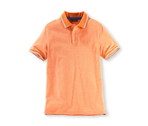 Piké polokošile, oranžová