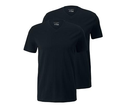 2 férfi V-nyakú póló szettben
