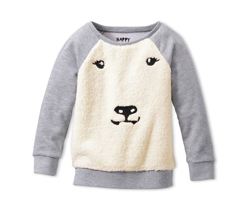 Bluza z pluszowym niedźwiedziem polarnym