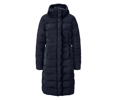 Női steppelt kabát, hosszú