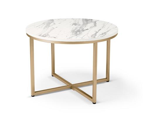 Stolik z marmurowym dekorem