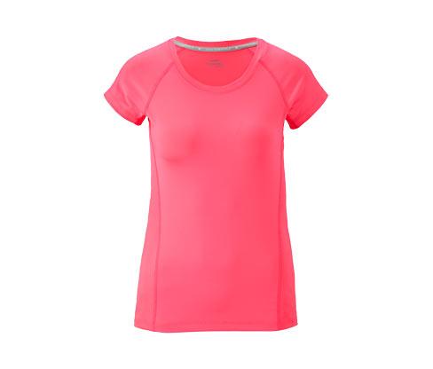 Női sportfelső, rövid ujjú, rózsaszín