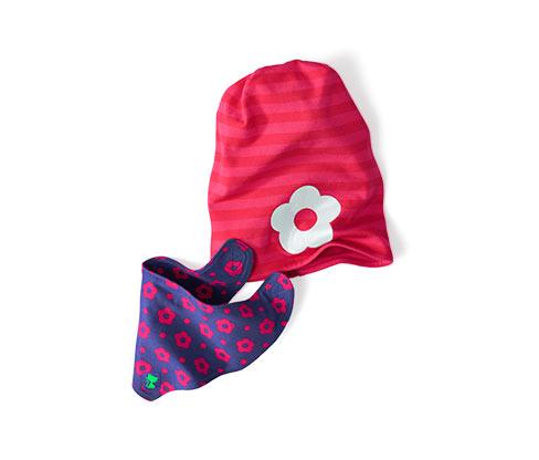 Čepice a šátek na krk, růžové